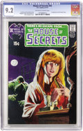 Bronze Age (1970-1979):Horror, House of Secrets #92 (DC, 1971) CGC NM- 9.2 Off-white to whitepages....