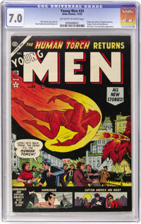 Young Men #24 (Atlas, 1953) CGC FN/VF 7.0 Off-white to white pages