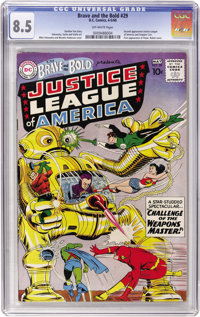 The Brave and the Bold #29 Justice League of America (DC, 1960) CGC VF+ 8.5 Off-white pages