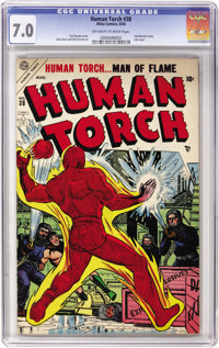 The Human Torch #38 (Atlas, 1954) CGC FN/VF 7.0 Off-white to white pages