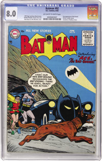 Batman #92 (DC, 1955) CGC VF 8.0 Off-white to white pages