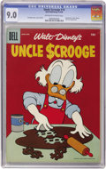 Silver Age (1956-1969):Cartoon Character, Uncle Scrooge #14 (Dell, 1956) CGC VF/NM 9.0 Off-white to white pages....