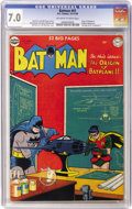 Golden Age (1938-1955):Superhero, Batman #61 (DC, 1950) CGC FN/VF 7.0 Off-white to white pages....