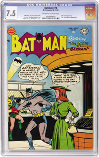 Batman #79 (DC, 1953) CGC VF- 7.5 Off-white to white pages