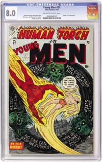 Young Men #27 (Atlas, 1954) CGC VF 8.0 Off-white to white pages