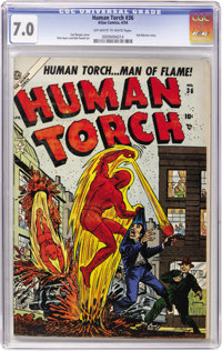 The Human Torch #36 (Atlas, 1954) CGC FN/VF 7.0 Off-white to white pages