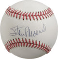 Autographs:Baseballs, Stan Musial Single Signed Baseball. St. Louis Cardinals legend Stanthe Man Musial makes the offered orb the benefactor of ...
