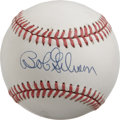Autographs:Baseballs, Bob Gibson Single Signed Baseball. The clean white ONL (Giamatti)orb seen here has been blessed with a fantastic sweet spo...