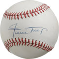 Autographs:Baseballs, Willie Mays Single Signed Baseball. The exceptional five-toolmaster Willie Mays makes the offered ONL (White) orb the canv...
