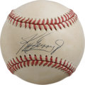 Autographs:Baseballs, Ken Griffey, Jr. Single Signed Baseball with Upper Deck RookieCard. Junior's picture perfect swing and grace with the glov...
