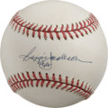 Autographs:Baseballs, Reggie Jackson Single Signed Baseball. Mr. October has depositedhis desirable autograph to the offered OAL (Brown) ball. S...