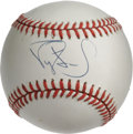 Autographs:Baseballs, Darryl Strawberry Single Signed Baseball. The troubled formerbaseball prodigy made a respectable eight straight All-Star g...