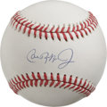 Autographs:Baseballs, Cal Ripken, Jr. Single Signed Baseball. The newest member of theHall of Fame appears on the sweet spot of an OAL (Brown) ...