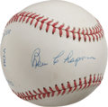 Autographs:Baseballs, Ben Chapman Single Signed Baseball. Long-time sparkplug for the NewYork Yankees, Ben Chapman was eventually replaced by on...