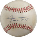 Autographs:Baseballs, Willie Mays Single Signed Baseball. The Say Hey Kid's signaturemakes the cream-toned ONL (White) orb that we make availabl...