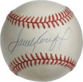 Autographs:Baseballs, Sandy Koufax Single Signed Baseball. Star lefty for the Dodgers makes an appearance with the superior exemplar of his Hall ...