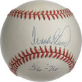 "Autographs:Baseballs, Frank Robinson ""'56-'76"" Single Singed Baseball. The Hall of Famermakes note of his term of service at the major league le..."
