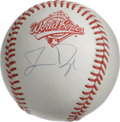 Autographs:Baseballs, Jermaine Dye Single Signed World Series Baseball. During his rookieseason in 1996, Jermaine made it to the World Series as...