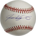 Autographs:Baseballs, Ivan Rodriguez Single Signed Baseball. The premier catcher of hisday has deposited a tremendous sweet spot signature to th...