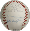 Autographs:Baseballs, 1976 San Francisco Giants Team Signed Baseball. Official NationalLeague (Feeney) orb sports 19 signatures from the '76 San...