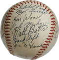 Autographs:Baseballs, 1951 St. Louis Browns Team Signed Baseball. The 1951 campaignproved to be an interesting one for those around the St. Loui...
