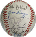 Autographs:Baseballs, 1984 Milwaukee Brewers Team Signed Baseball. A total of 25signatures from the 1987 Milwaukee Brewers are found on the surf...