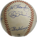 Autographs:Baseballs, 1965 Cincinnati Reds Team Signed Baseball. Crosley Field's baseballinhabitants, the Cincinnati Reds, were a legendary team...