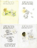Original Comic Art:Miscellaneous, Jack Kent - Mad Cover Preliminary Original Art, Group of 4 (EC,circa 1970s).... (Total: 4)