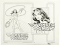 Original Comic Art:Splash Pages, Jose Garcia-Lopez - Wonder Woman Splash Page Original Art (DC,1982)....