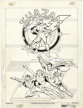 Original Comic Art:Splash Pages, Jose Garcia-Lopez - Shazam Splash Page Original Art (DC, 1982)....