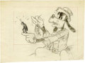 "Animation Art:Production Drawing, ""Goofy and Wilbur"" Pencil Drawing Original Art (Good Housekeeping,1939)...."