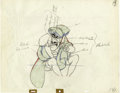 "Animation Art:Production Drawing, ""Peter Pan"" Animation Production Drawing Original Art (Walt Disney,1953)...."