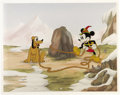 """animation art:Limited Edition Cel, Mickey Mouse """"Mickey's 60th Birthday"""" Limited Edition Animation Celand Matching Background Group, 448/950 (Walt Disney, 1988)...(Total: 2)"""