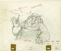 "Animation Art:Production Drawing, ""Pinocchio"" Animation Production Drawing Original Art (Disney,1940)...."