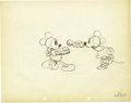 "Animation Art:Production Drawing, Mickey Mouse ""Puppy Love"" Animation Production Drawing Original Art(Disney, 1933)...."