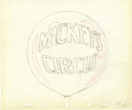 """Animation Art:Production Drawing, Mickey Mouse """"Mickey's Circus"""" Animation Production Drawing Original Art, Group of 3 (Disney, 1936).... (Total: 3)"""