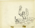 """Animation Art:Production Drawing, """"The Big Bad Wolf"""" Animation Production Drawing Original Art, Groupof 2 (Disney, 1934).... (Total: 2)"""