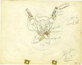 "Animation Art:Production Drawing, ""The Robber Kitten"" Animation Production Drawing Original Art(Disney, 1935)...."
