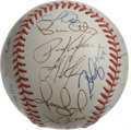 Autographs:Baseballs, 1998 Cleveland Indians Team Signed Baseball. A total of thirtysignatures from the 1998 AL Central-winning Cleveland Indian...