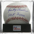 "Autographs:Baseballs, Sparky Anderson ""HOF 2000"" Single Signed Baseball, PSA Gem Mint 10.The wise and beloved Hall of Fame manager offers a stell..."