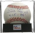 Autographs:Baseballs, Willie Stargell Single Signed Baseball, PSA NM-MT+ 8.5. Here weoffer a great single from Pops. Ball has been encapsulated...