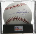 "Autographs:Baseballs, Gary Sheffield ""#11"" Single Signed Baseball, PSA Mint+ 9.5. One ofthe newest members of the Detroit Tigers gives us this e..."