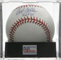 "Autographs:Baseballs, Bob Feller ""HOF 62"" Single Signed Baseball, PSA Mint+ 9.5. Here weoffer a stellar sweet spot single from fierce hurler Rap..."