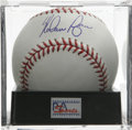 Autographs:Baseballs, Nolan Ryan Single Signed Baseball, PSA Gem Mint 10. Baseball'sundisputed Strikeout King offers the immaculate single seen ...