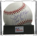"Autographs:Baseballs, Joe Morgan ""HOF 90"" Single Signed Baseball, PSA Mint+ 9.5. Popularstaple of the Big Red Machine years in Cincinnati, Joe ..."