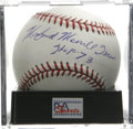 "Autographs:Baseballs, Monford Merrill Irvin ""HOF 73"" Single Signed Baseball, PSA Mint+9.5. A star in both the Negro Leagues as well as the major..."
