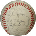 Autographs:Baseballs, 1986 NL All-Star Team Signed Baseball. The 1986 All-Star game,played in Houston's Astrodome, was won by the AL 3-2. Here ...