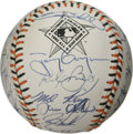 Autographs:Baseballs, 1993 NL All-Star Team Signed Baseball. From the 1993 game played inBaltimore we offer this NL All-Star team-signed basebal...