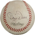 Autographs:Baseballs, 1960's Dizzy Dean Single Signed Baseball. The ringleader of thehistoric Gashouse Gang of 1934, Dean was once quoted as say...