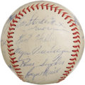 Autographs:Baseballs, 1958 Kansas City Athletics Team Signed Baseball with Roger Maris.Three decades and several hundred miles removed from thei...